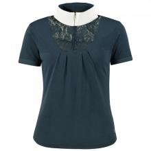 Horze Women's Lace-Detail Technical Show Shirt - Imagen 1