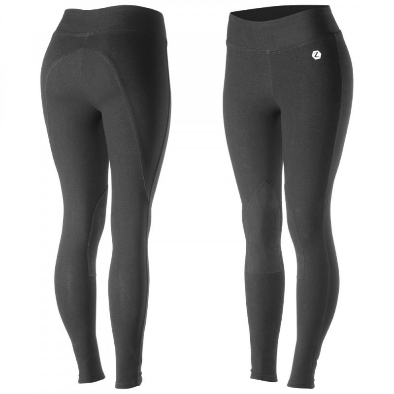 Horze Women's Knee Patch Active Tights - Imagen 1