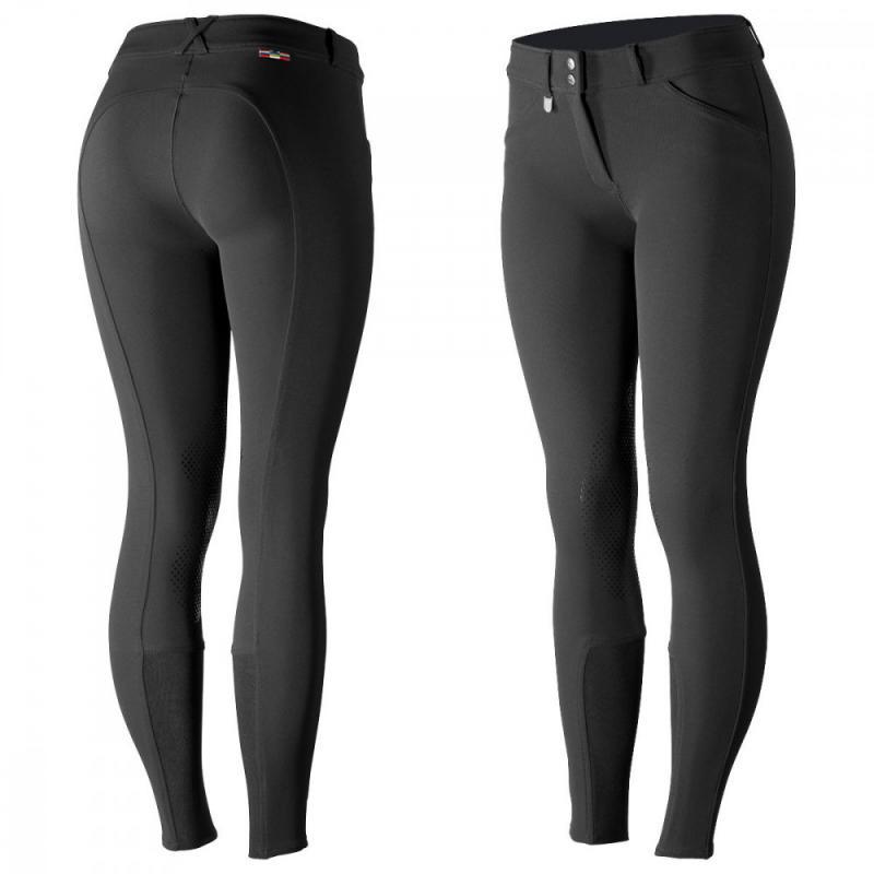 Horze Grand Prix Women's Silicone Knee Patch Breeches - Imagen 1