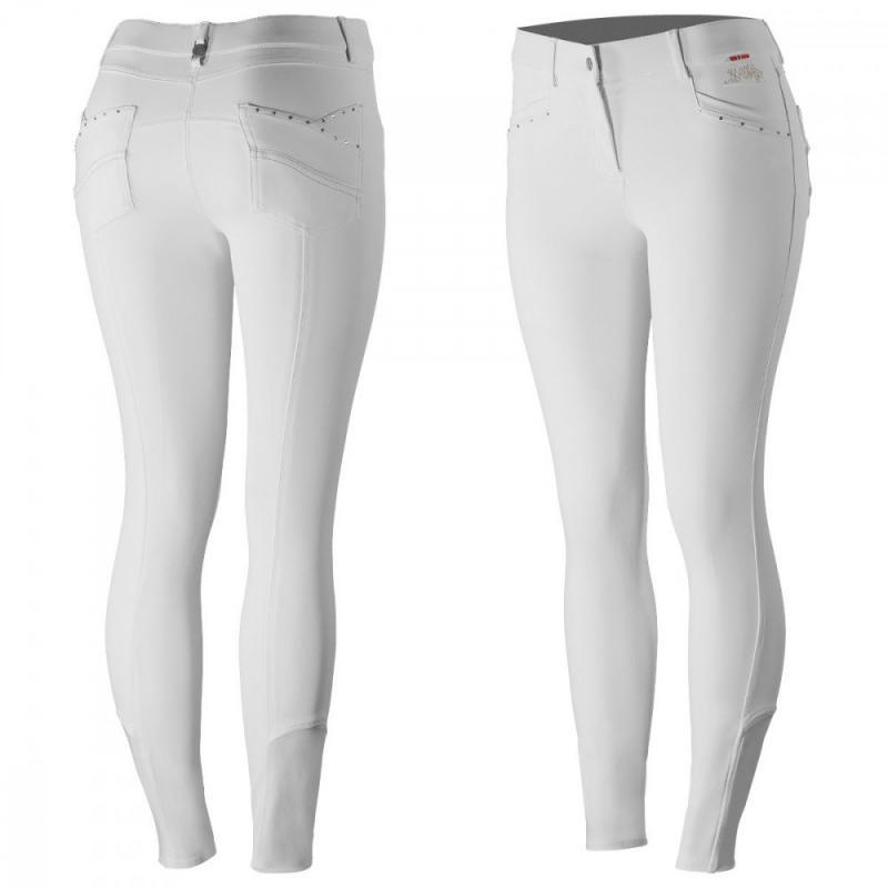 B Vertigo Olivia Women's Silicone Knee Patch Breeches - Imagen 1