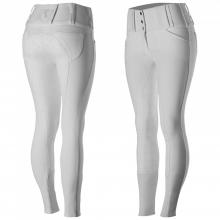 Horze Desiree Women's Leather Full Seat Breeches with Silicone - Imagen 4