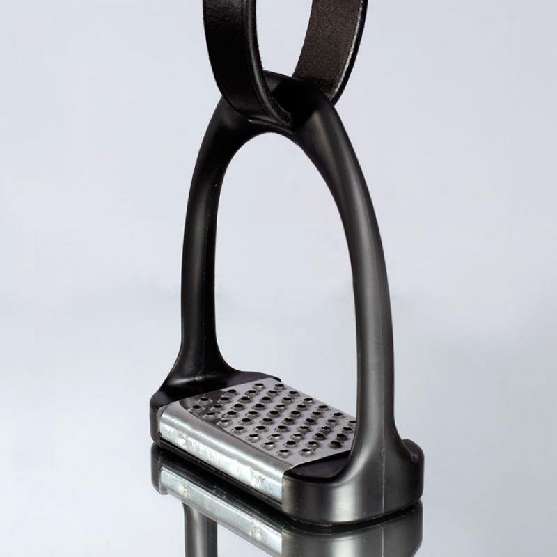Horze Plastic Stirrups with Aluminum Inlay - Imagen 1