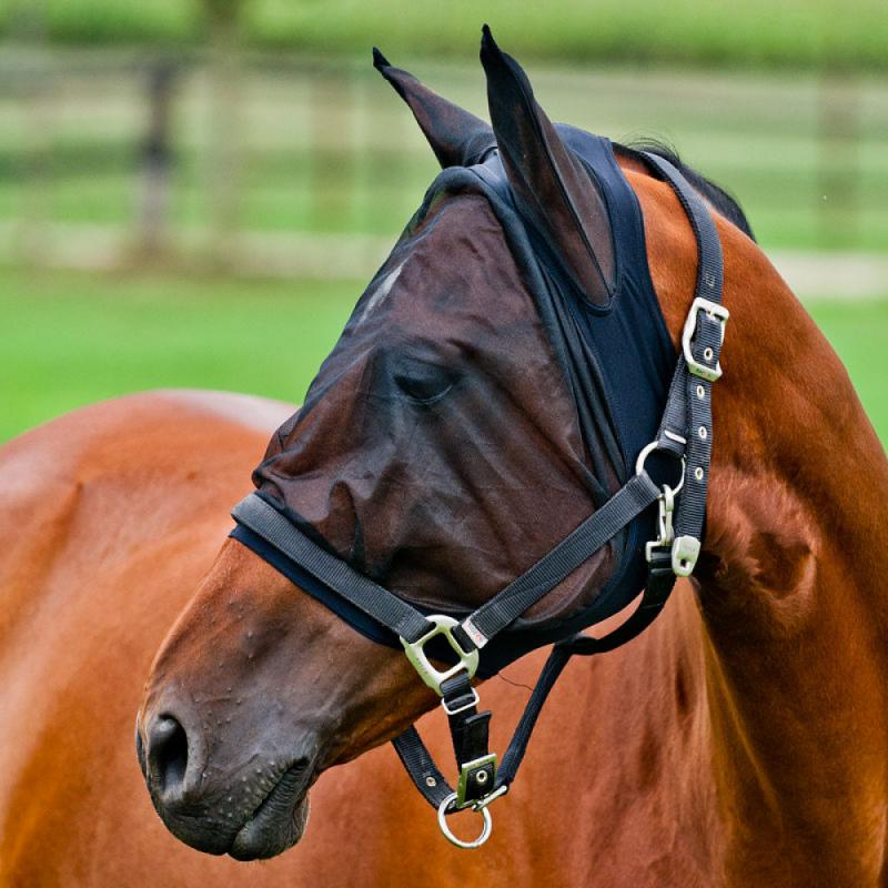 Horze Mesh Fly Mask with Spandex - Imagen 1